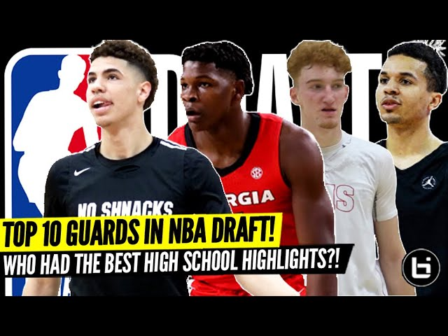 2020 NBA Draft's Top 10 Most Exciting Guards! High School Highlights! LaMelo Ball, Anthony Edwards!