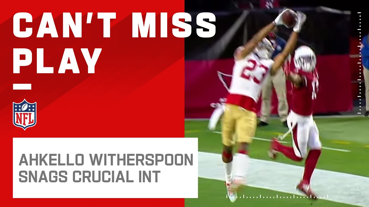 Ahkello Witherspoon Snags Crucial End-Zone INT Off Murray