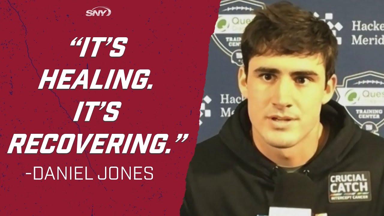 Daniel Jones gives an update on how his hamstring is feeling | New York Giants | SNY