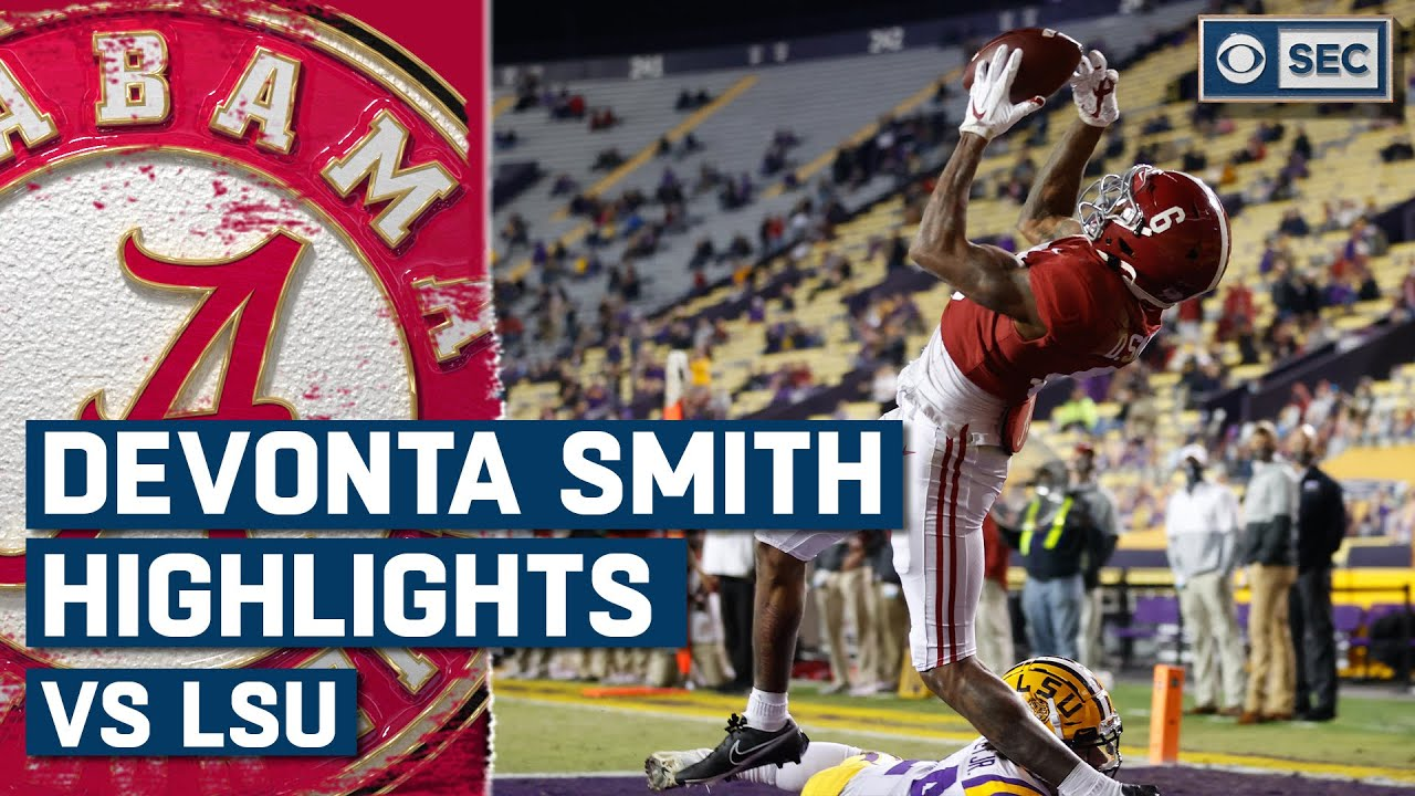 Devonta Smith Highlights vs. LSU Tigers | 2020 Regular Season Week 14 | CBS Sports HQ