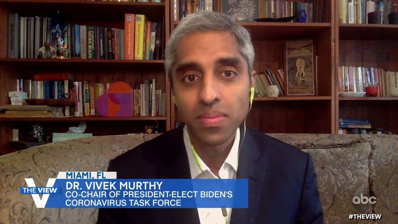 """Dr. Vivek Murthy Says He's """"Worried"""" About Coming Weeks With Holidays and COVID-19 