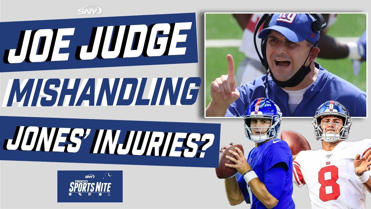 Has Giants coach Joe Judge mismanaged injuries to QB Daniel Jones? | SNY