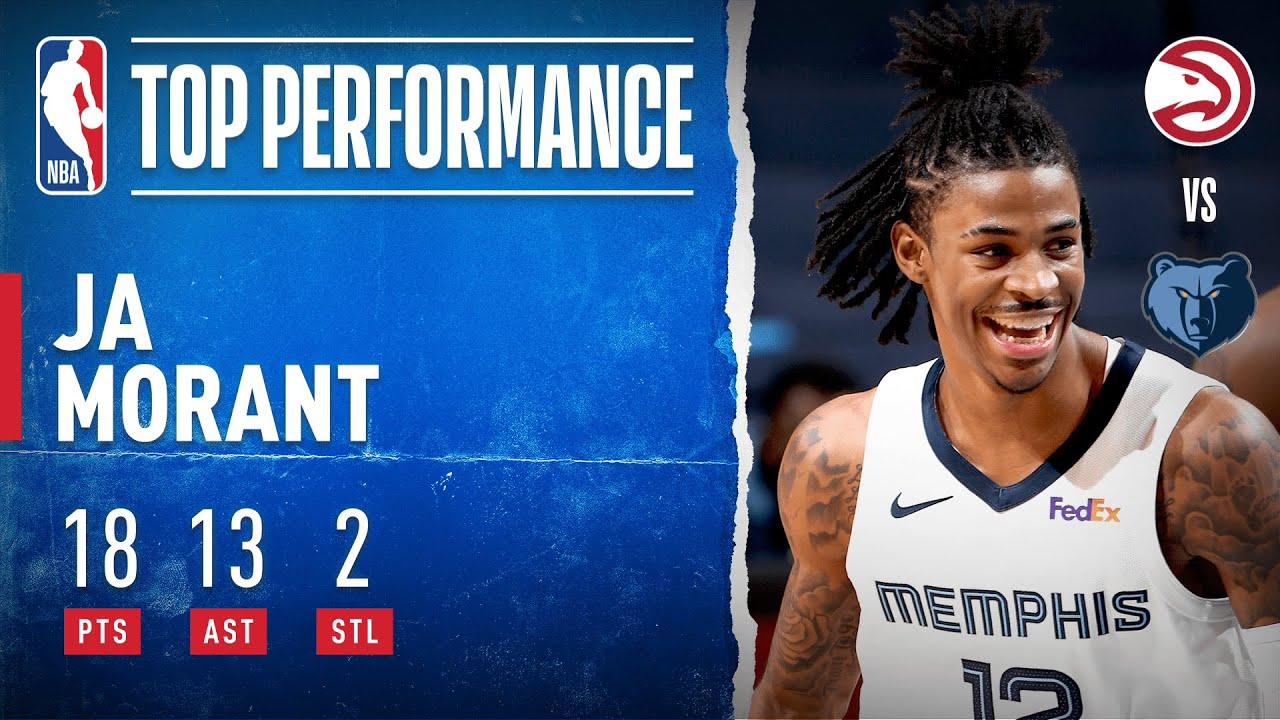 Ja Morant GOES OFF For Double-Double!