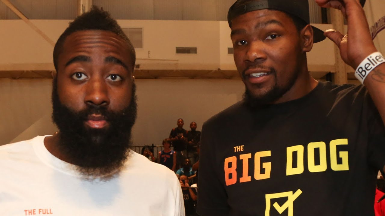 "Kevin Durant Is Sick Of Trade Questions About James Harden, Says ""I Don't Think About James"""