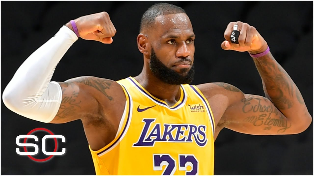 LeBron scored 10+ points in his 1,000th straight game when the Lakers beat the Spurs | SportsCenter