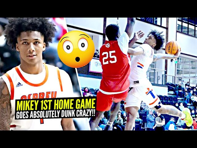 Mikey Williams Tries To BAPTIZE DEFENDERS In 1st HOME GAME Of Season!! Went DUNK CRAZY!!