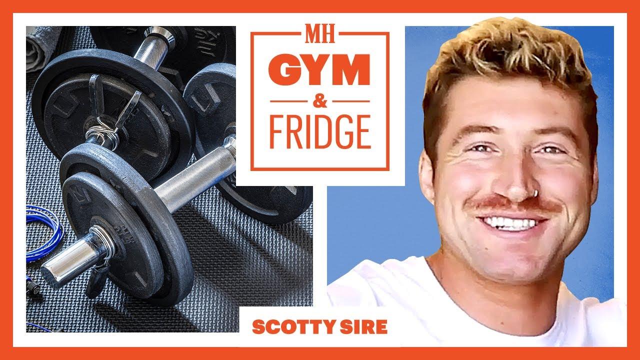 Scotty Sire Shows His Gym & Fridge | Gym & Fridge | Men's Health