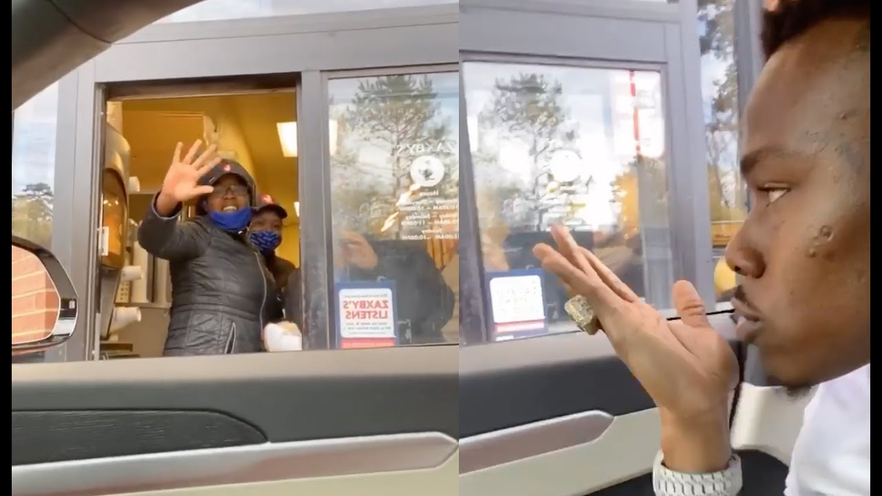 """You So Fine"" DaBaby Makes Drive Thru Employee Lose Her Cool After Blowing Her A Kiss 😅"