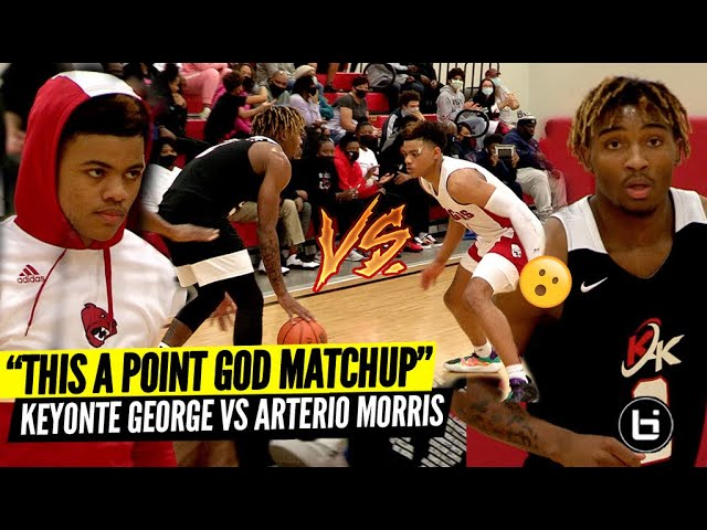 5-Star Keyonte George VS 4-Star Arterio Morris!! Texas Point God Matchup of The Year!