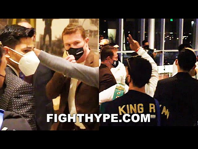 "CANELO & RYAN GARCIA RUN UP TO AFTERPARTY; CELEBRATE ""GOOD SHOT"" KNOCKOUT OF LUKE CAMPBELL"
