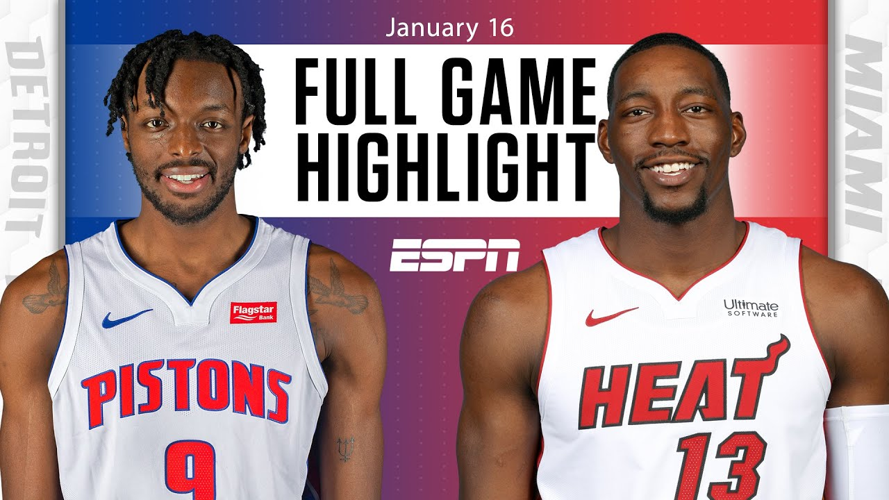 Detroit Pistons vs. Miami Heat [FULL GAME HIGHLIGHTS]   NBA on ESPN