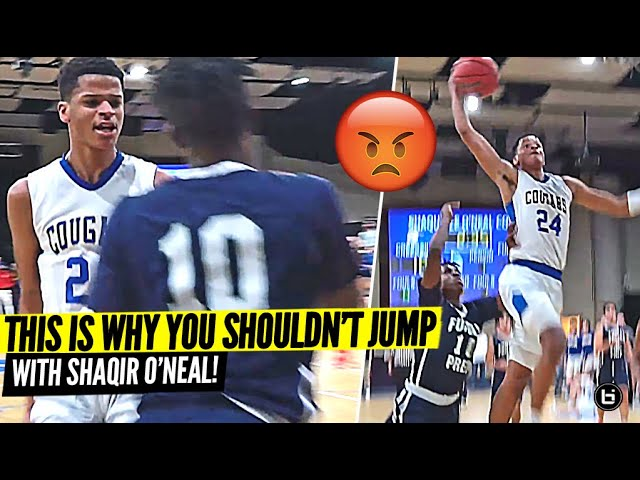 DON'T JUMP w/ Shaqir O'Neal!! Gets UP For BIG Dunk & STARES DOWN Defender!!