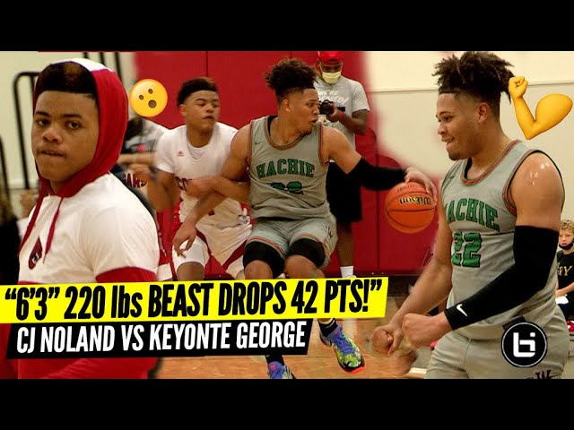 """""""DUDE IS A 6'3″ 220lbs POINT GUARD SNAPS FOR 42PTS!"""" CJ Noland VS Keyonte George"""