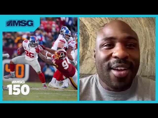 Former New York Giants RB Brandon Jacobs Praises Saquon Barkley and Daniel Jones | MSG 150