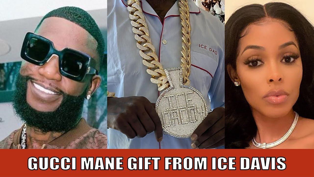 GUCCI MANE GETS HIS BIGGEST CHAIN EVER FROM HIS SON ICE DAVIS AND WIFE KEYSHIA KAOIR