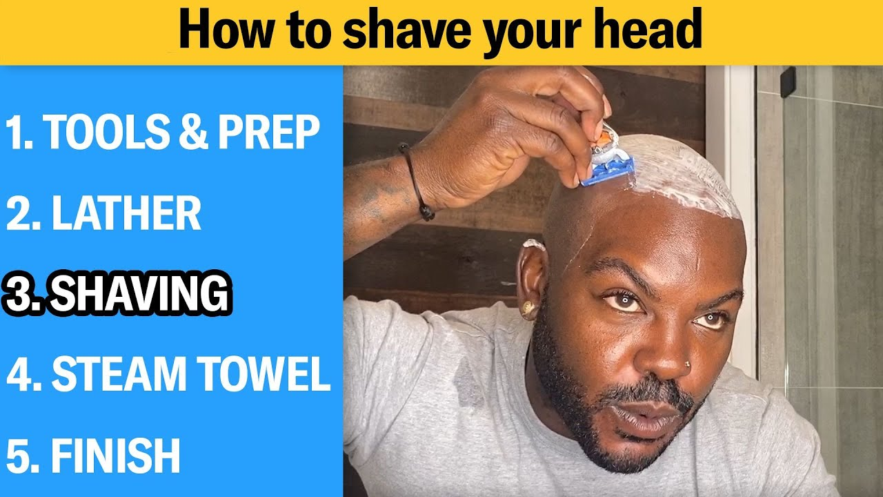 How to Shave Your Head Completely Bald (5 Step Tutorial) | GQ
