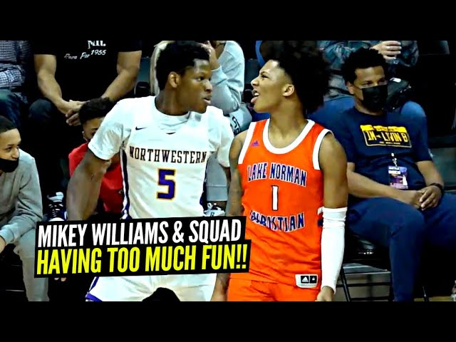 Mikey Williams HAVING TOO MUCH FUN w/ His New Squad!! Great TEAM Win For Lake Norman!!