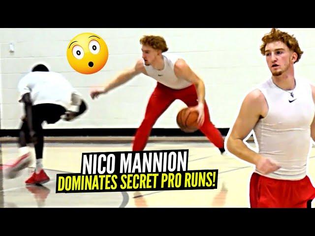 Nico Mannion Pulls Up to SECRET Pro Run & DOMINATES Everyone!! Warriors Draft Pick Is NICE!!