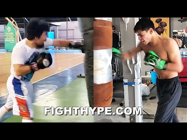 PACQUIAO VS. RYAN GARCIA SIDE-BY-SIDE HEAVY BAG TRAINING COMPARISON | EXPLOSIVE POWER & SPEED