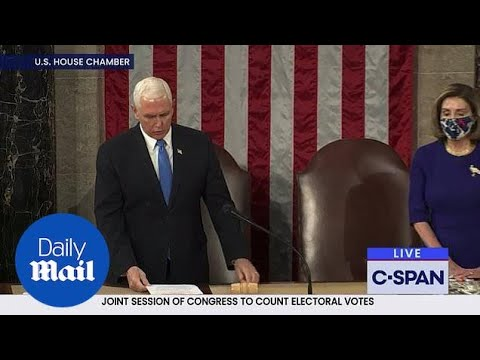Pence goes against Trump and begins certification of votes