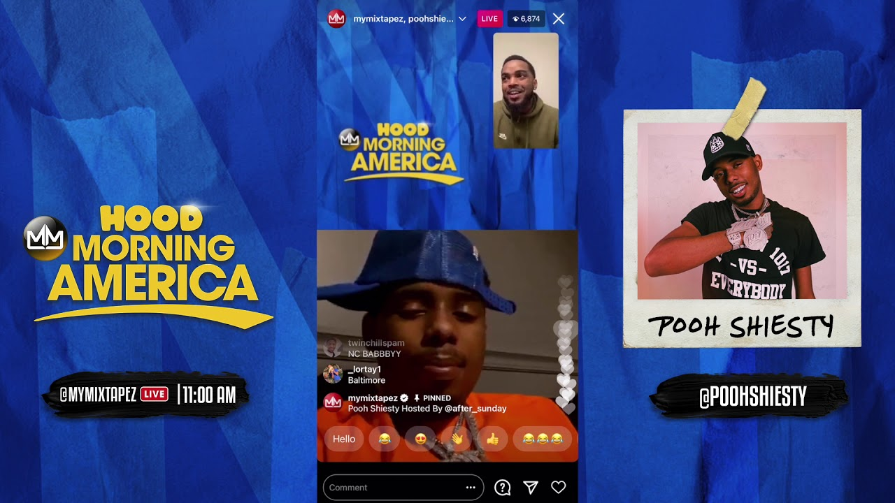 Pooh Shiesty talks smoking Opp Pack and getting out of Jail [Hood Morniing America]