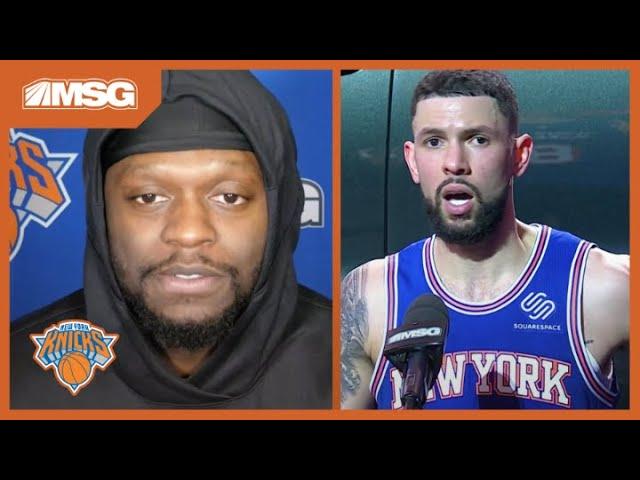 Randle & Rivers Feeling The Energy Of Knicks Fans During Win Streak | New York Knicks