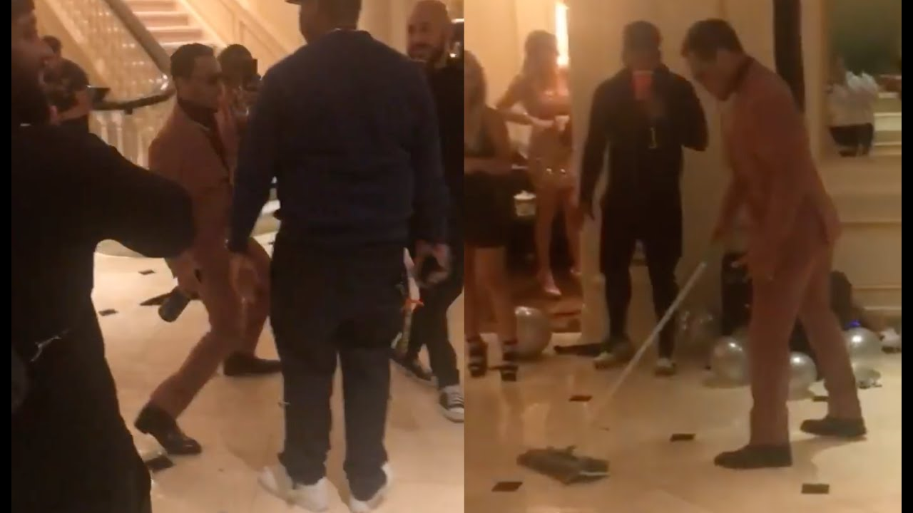 T.I. Almost Slips And Falls At His New Years Party With Lil Duval