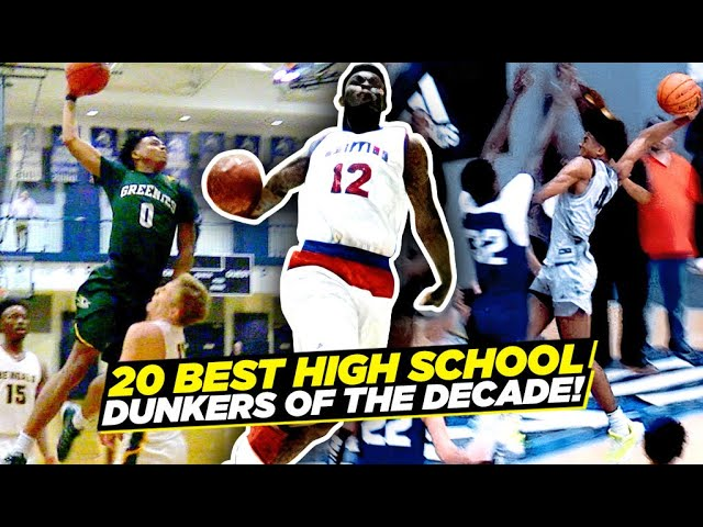The 20 BEST High School DUNKERS Of The DECADE!! Zion, Jalen Green, Mac, Jimma & More!