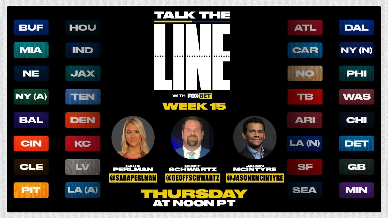Week 15 Pro Football Picks and Line Movement: Talk the Line with FOX Bet!