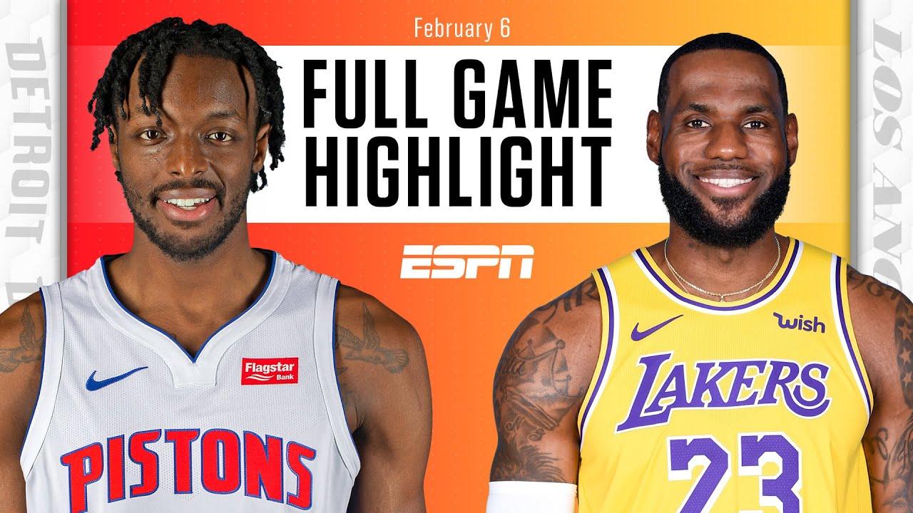 Detroit Pistons vs. Los Angeles Lakers [FULL GAME HIGHLIGHTS] | NBA on ESPN