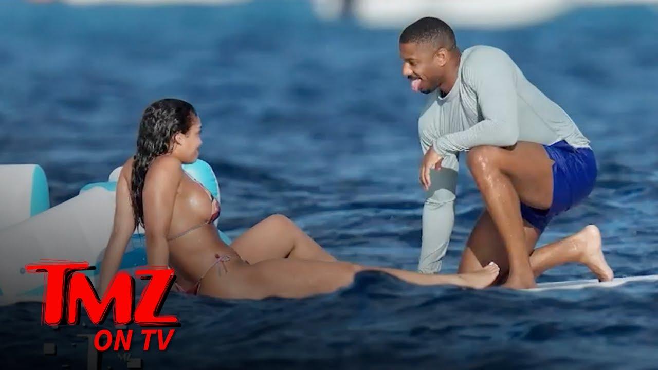 Michael B. Jordan & Lori Harvey Steam Up The Ocean | TMZ TV
