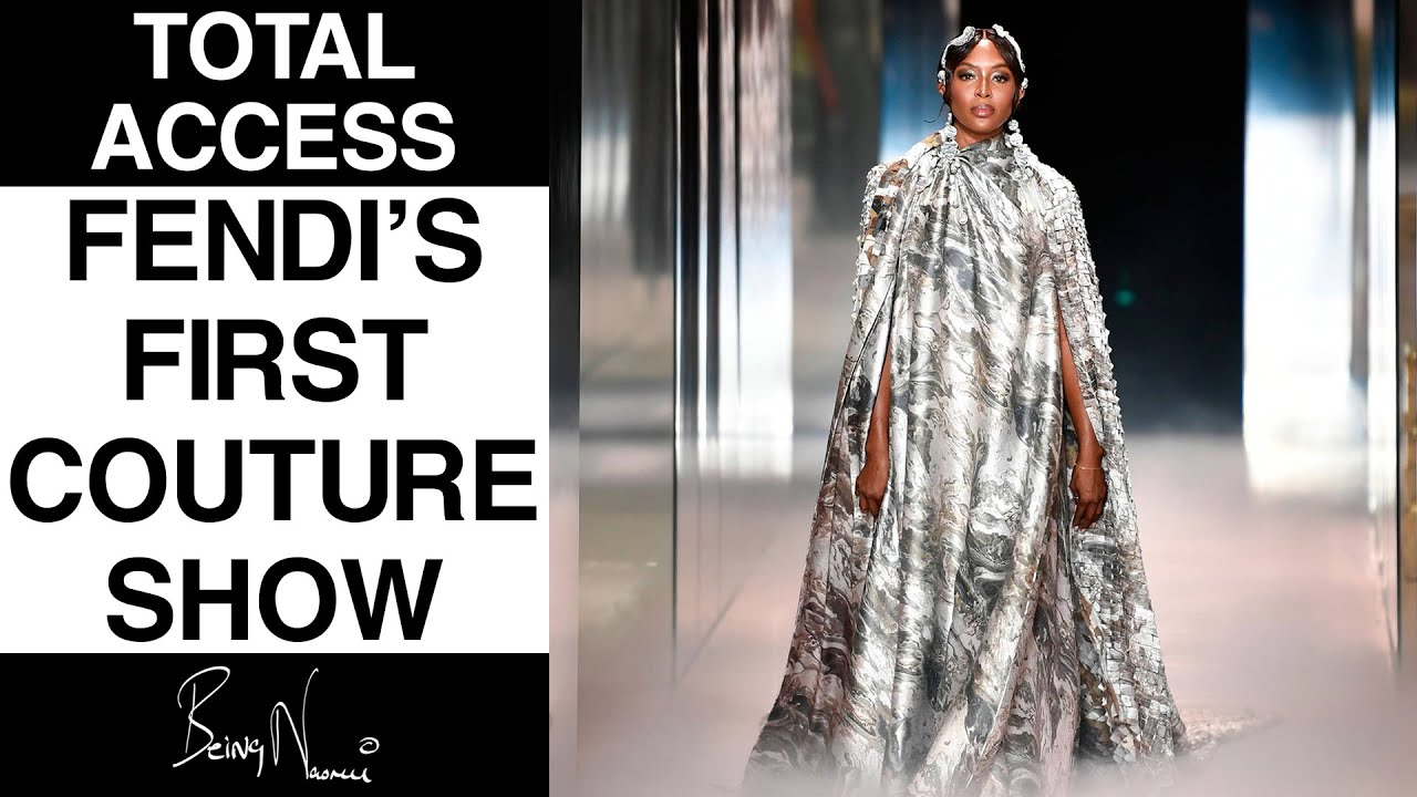Naomi's Total Access to Fendi's First Couture Show with Kim Jones