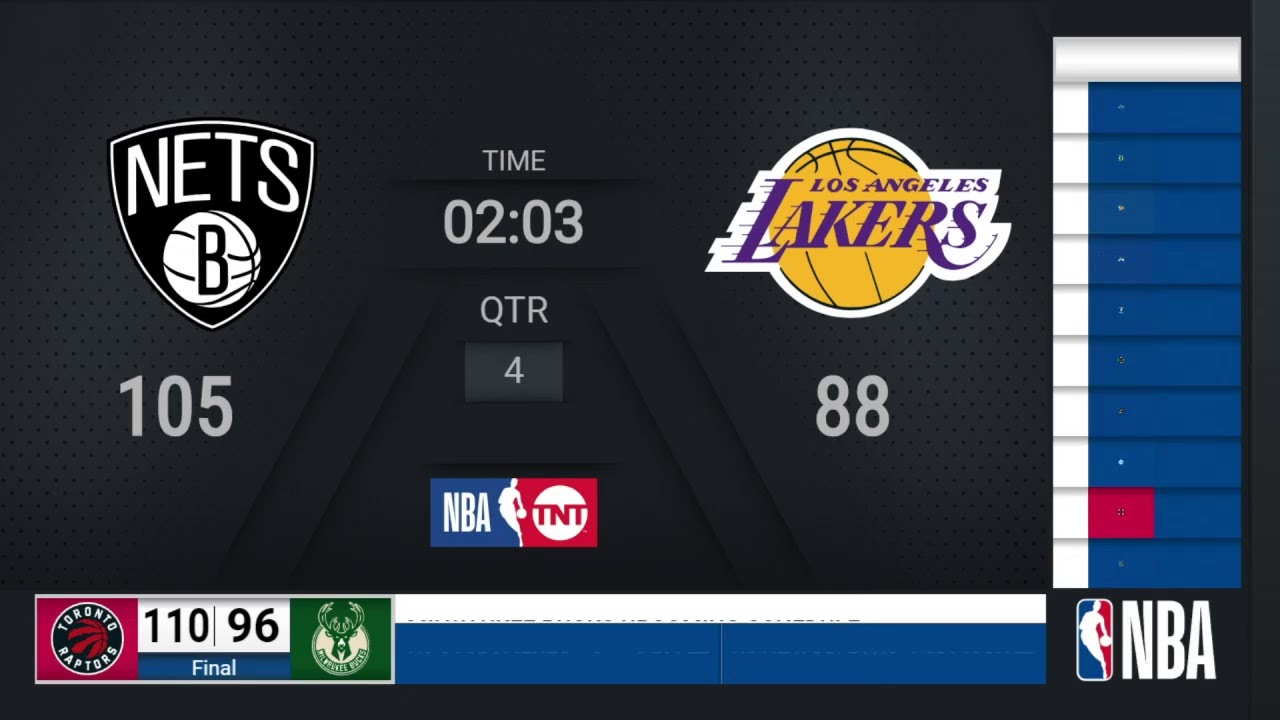 Nets @ Lakers   NBA on TNT Live Scoreboard