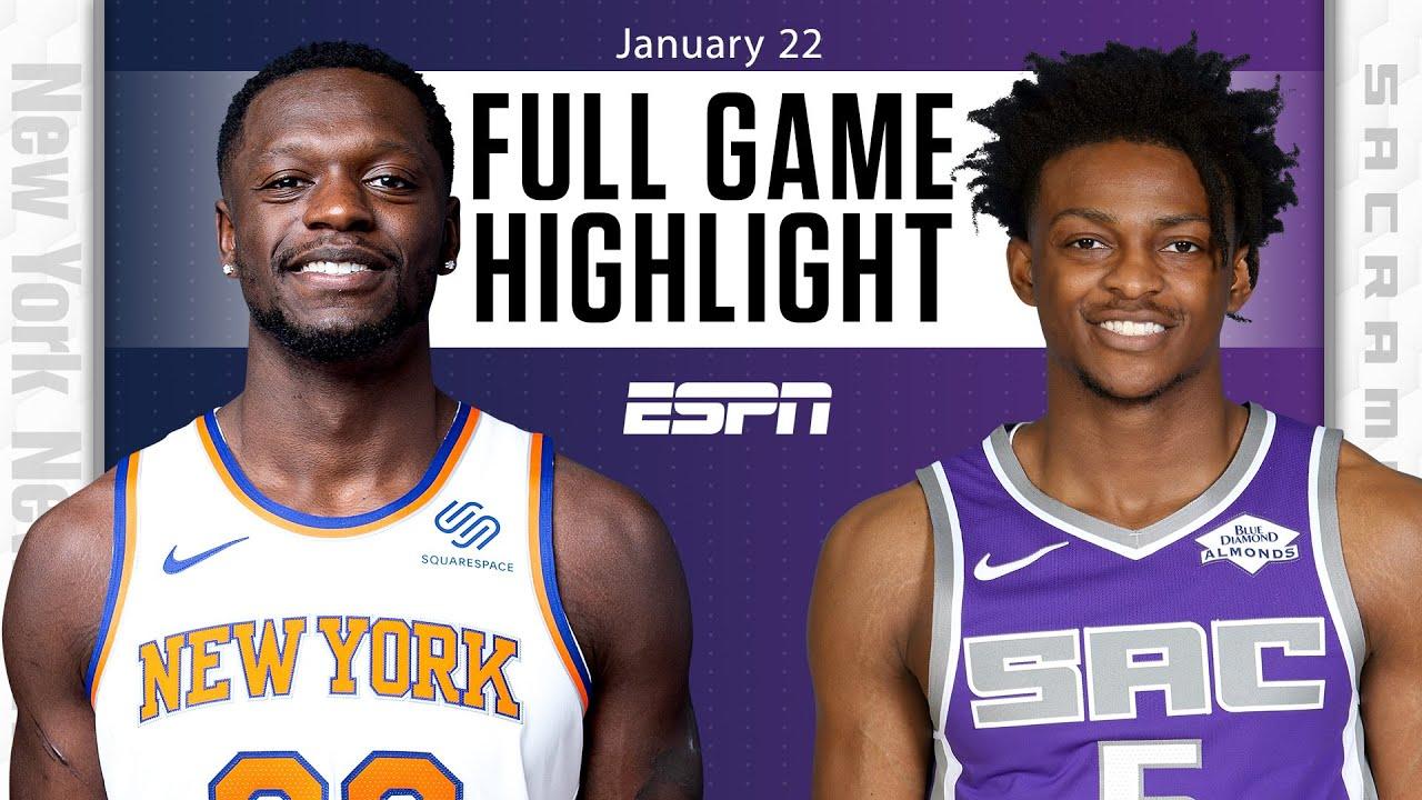New York Knicks vs. Sacramento Kings [FULL GAME HIGHLIGHTS]   NBA on ESPN