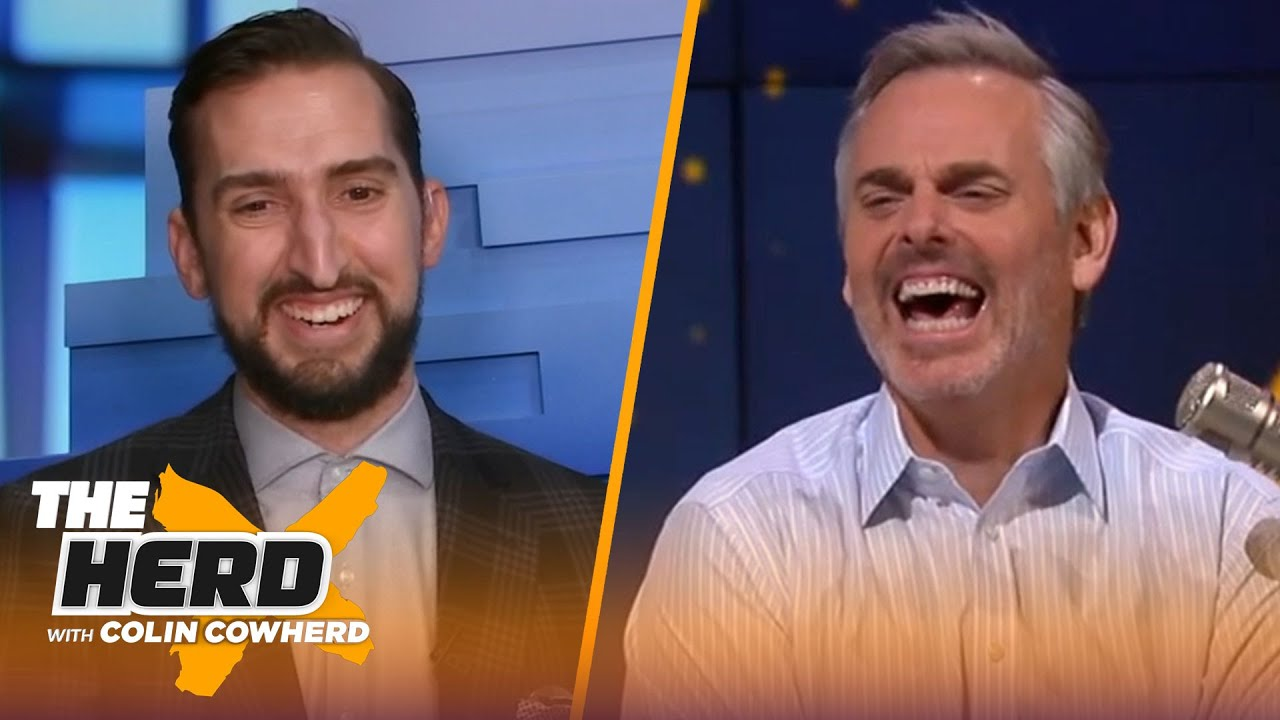 Nick Wright pays off Bills bet to Colin; talks Brady's potential 10th Super Bowl & Kyrie   THE HERD