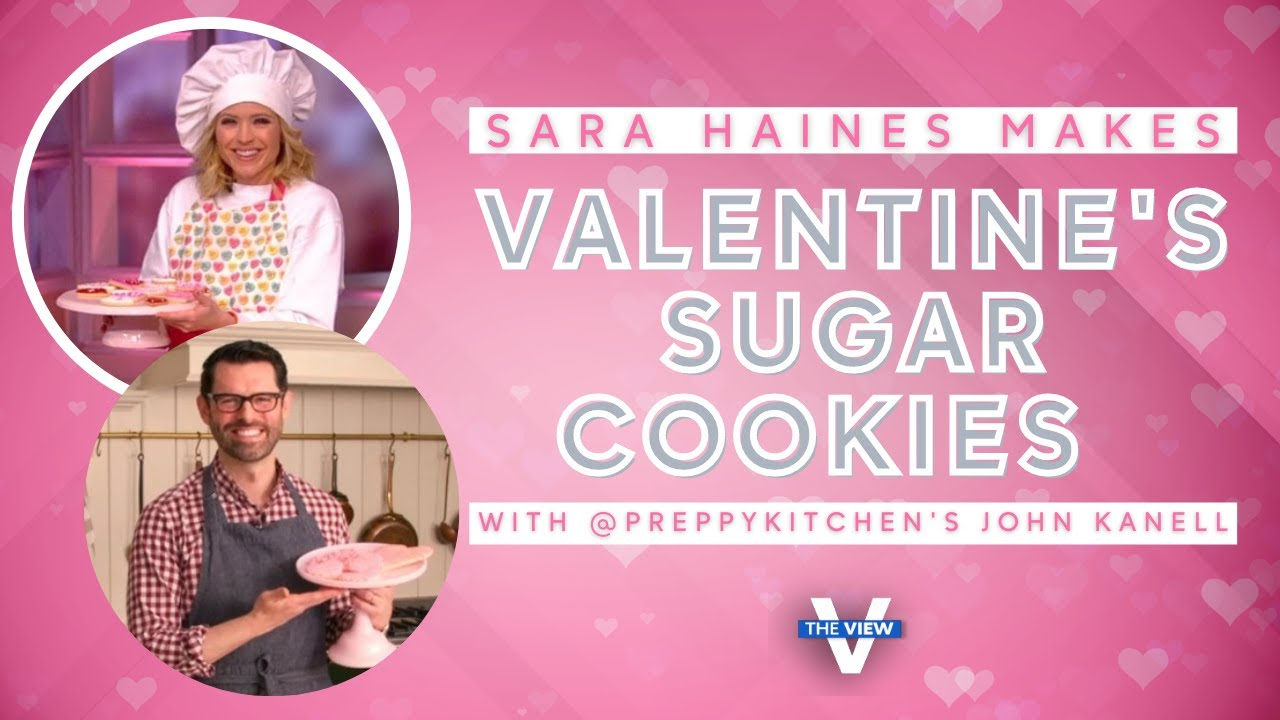 @Preppy Kitchen's John Kanell Bakes Valentine's Day Sugar Cookies with Sara Haines   The View
