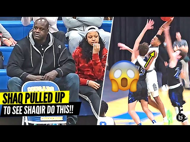 Shaq Watches Shaqir O'Neal Try To BAPTIZE The Defenders!! Shaqir Gets Buckets In Front of His Dad!