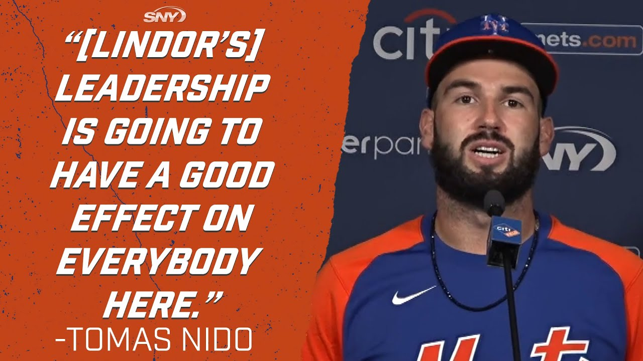 Tomas Nido talks improved offense, meshing with McCann, reuniting with Lindor | New York Mets | SNY