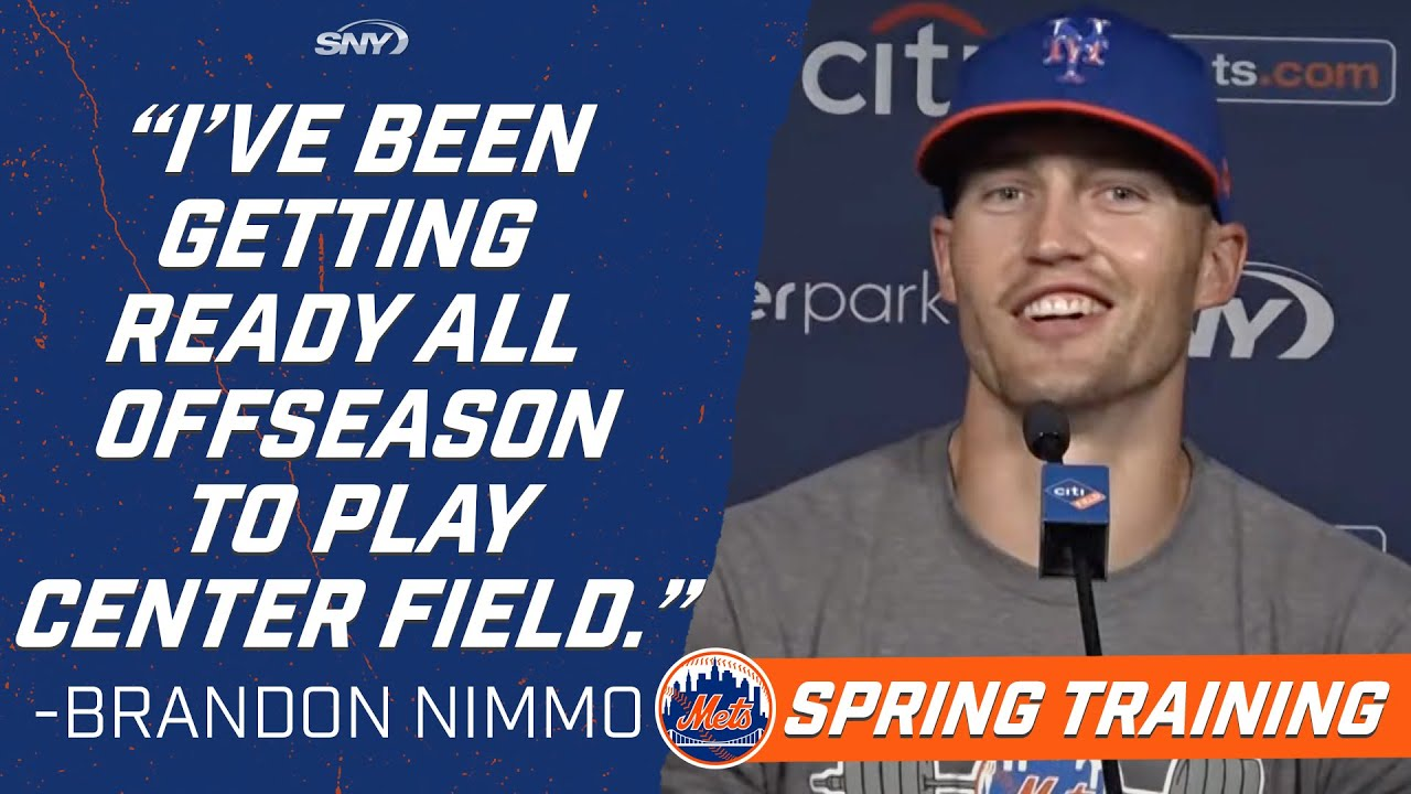 Brandon Nimmo shows how analytics can help his defense in center field | New York Mets | SNY