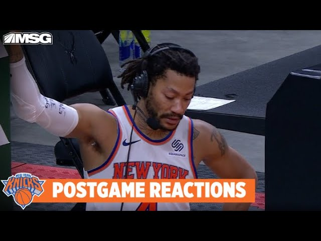 Derrick Rose Devastated to Hear Mitchell Robinson Broke Foot | New York Knicks