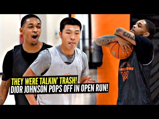 Dior Johnson Gets HEATED In 5v5 Open Run & TAKES OVER!! Don't Talk TRASH To Dior!!