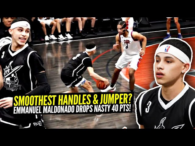 Emmanual Maldonado Goes OFF For SMOOTH 40 Points!! SMOOTHEST HANDLES & JUMPSHOT In The Nation!?