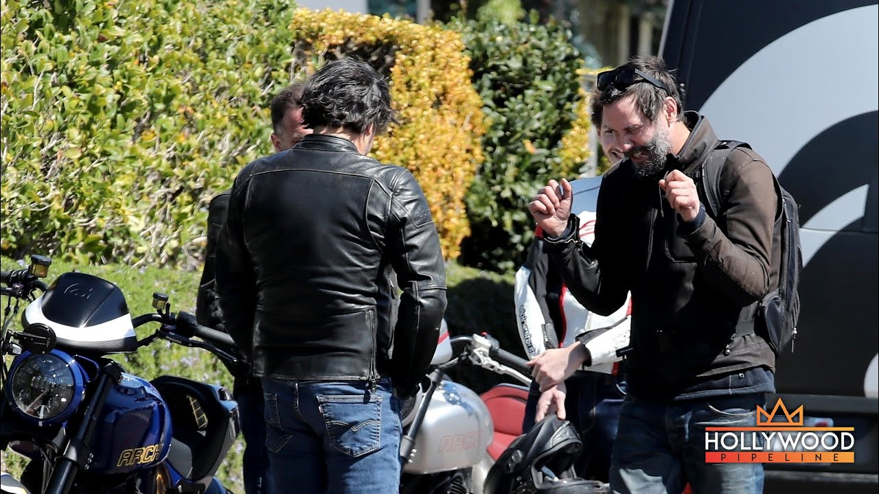 EXCLUSIVE: Keanu Reeves talking motorcycles after surprise cameo on 'SpongeBob Movie'