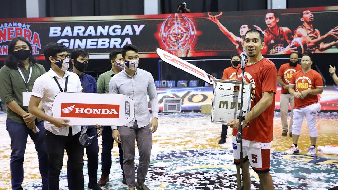 Finals MVP Awarding   PBA Philippine Cup 2020 Finals