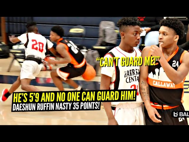 He's 5'9 & NO ONE CAN GUARD HIM!! Daeshun Ruffin Drops NASTY 35 Points & Scored On EVERY DEFENDER!