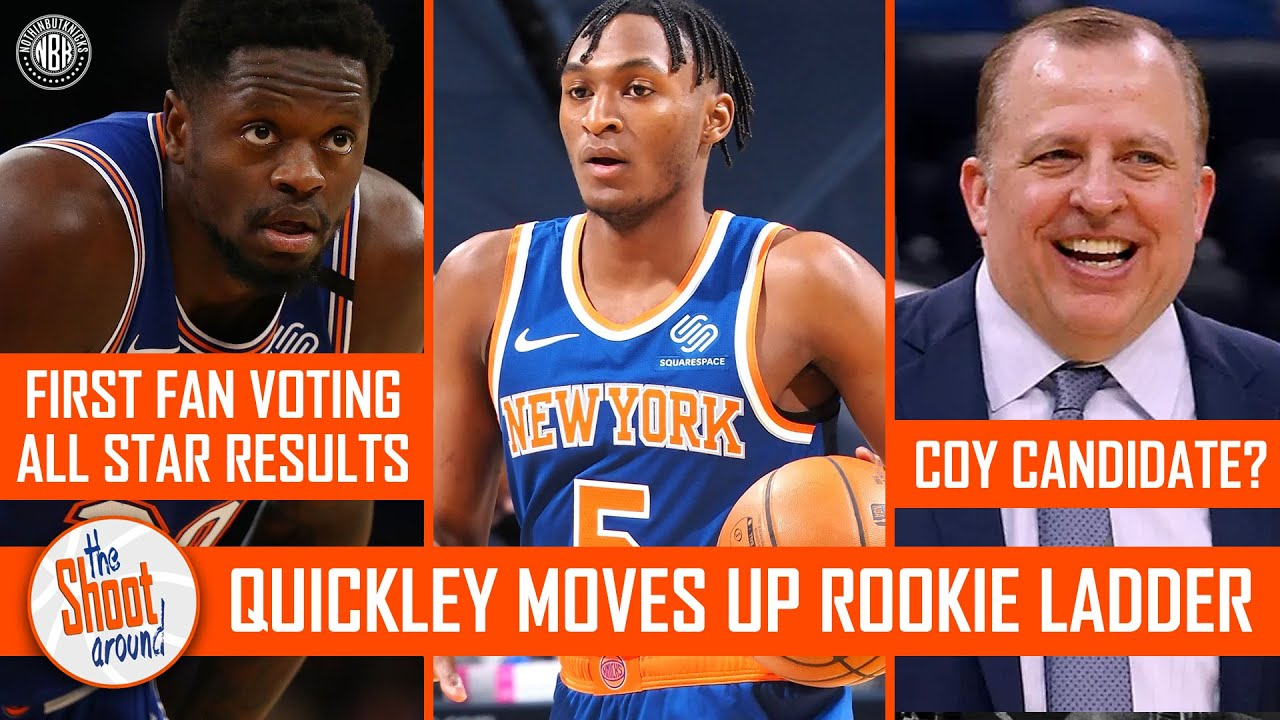 Immanuel Quickley moves up the Rookie Ladder   Tom Thibodeau Coach of the Year?   All Star Voting