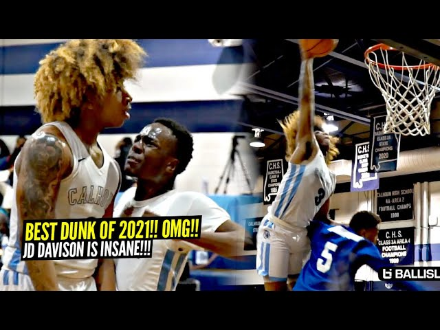 JD Davison Throws Down BEST DUNK OF 2021 SO FAR!! Absolutely DEMOLISHES Defender & TURNS UP!!