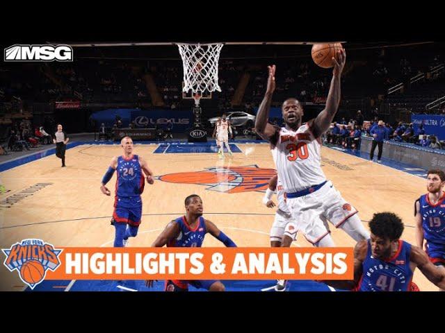 Knicks Bounce Back vs Pistons Behind Randle's Monster 27-16 Night | New York Knicks