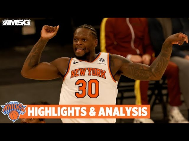 Knicks Come Back Big To Take Down Pacers 110-107 | New York Knicks