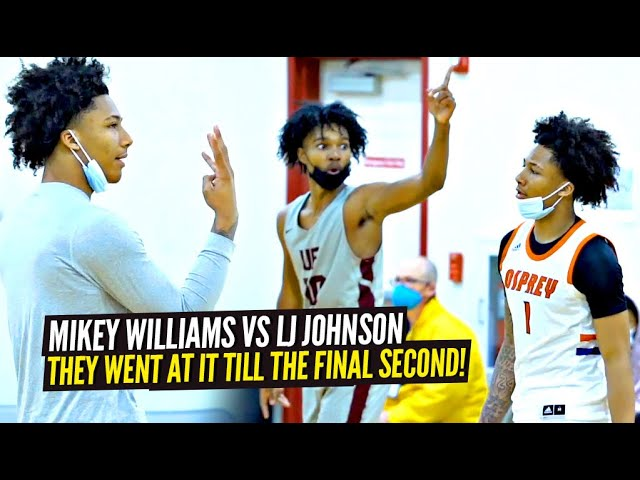 Mikey Williams & LJ Johnson GO AT IT!! INTENSE Battle Went DOWN TO THE WIRE!! Lake Norman vs UFCA!